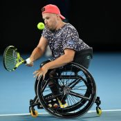 Dylan Alcott at Australian Open 2020; Getty Images