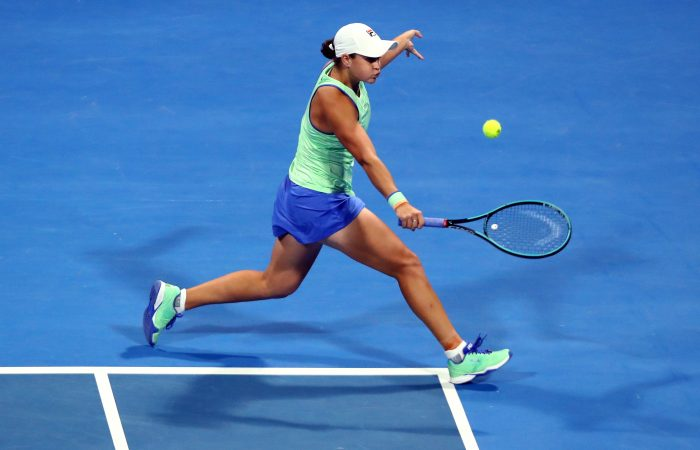 RETURNING: World No.1 Ash Barty in action earlier this year. Picture: Getty Images