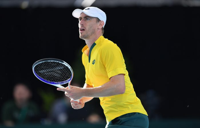 John Millman representing Australia in Davis Cup in March 2020. Picture: Getty Images