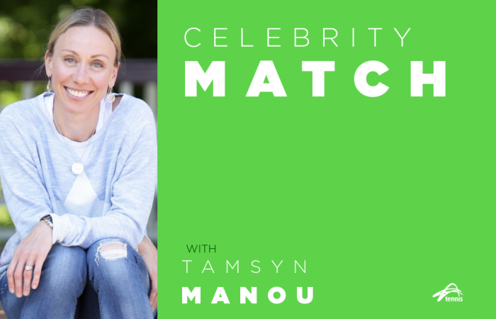 Celebrity Match with Tamsyn Manou.
