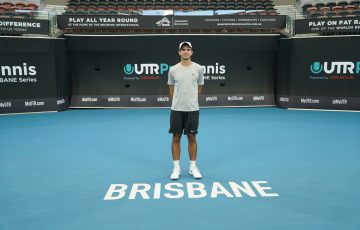 IN FORM: Alexander Crnokrak won the third UTR Pro Tennis Series event in Brisbane at the weekend.