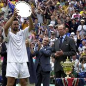 Pat Rafter at Wimbledon in 2001; Getty Images