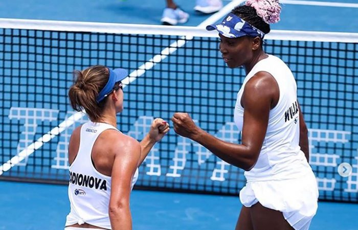 Arina Rodionova and Venus Williams playing World TeamTennis in America. Picture: Instagram