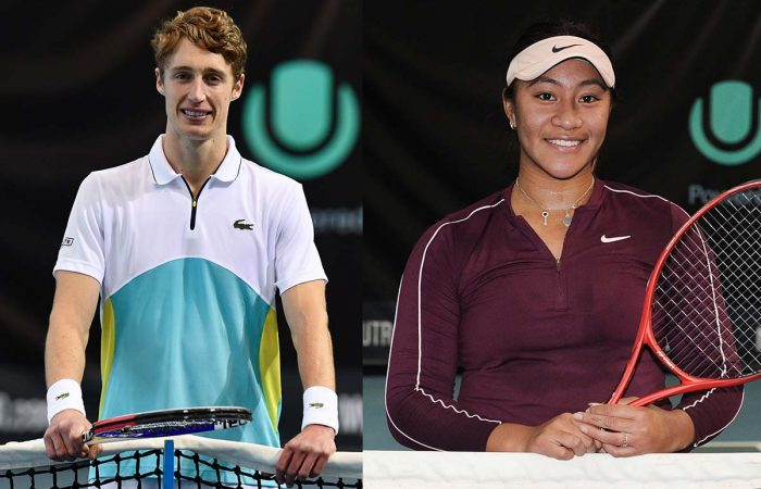 CHAMPIONS: Marc Polmans and Destanee Aiava won the UTR Pro Tennis Series in Melbourne this week.