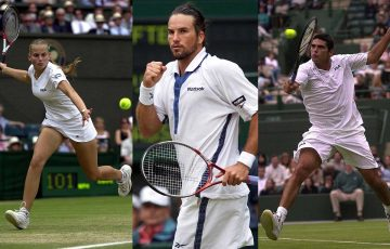 AUSSIE STARS: Jelena Dokic, Pat Rafter and Mark Philippoussis all made memorable Wimbledon runs in 2000. Pictures: Getty Images