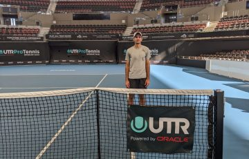 CHAMPION: Alexander Crnokrak won his second UTR Pro Tennis Series title in Brisbane today. Picture: Tennis Australia