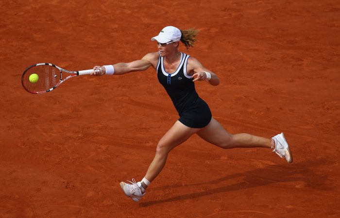 IN FULL FLIGHT:  Sam Stosur in action at the French Open in 2010. Picture: Getty Images