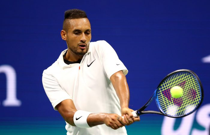 STAYING HOME: Nick Kyrgios in action at the US Open in 2019. Picture: Getty Images