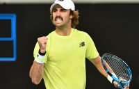 Jordan Thompson in action at Australian Open 2020. Picture: Getty Images