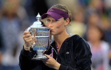 CHAMPION: Sam Stosur with her US Open trophy in 2011. Picture: Getty Images