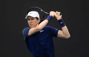 IN ACTION: John-Patrick Smith during the AO Wildcard Play-off in December. Picture: Tennis Australia