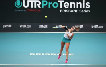 Olivia Gadecki in action during the UTR Pro Tennis Series. Picture: Tennis Australia
