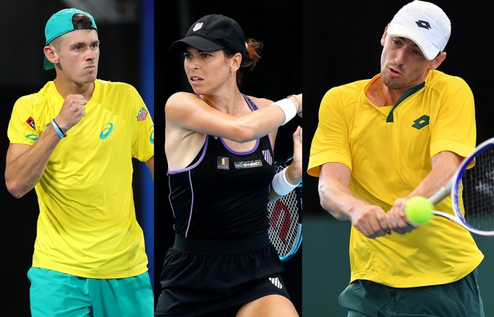 Alex de Minaur, Ajla Tomljanovic and John Millman are the top-ranked Aussies in the US Open 2020 draw. Pictures: Getty Images
