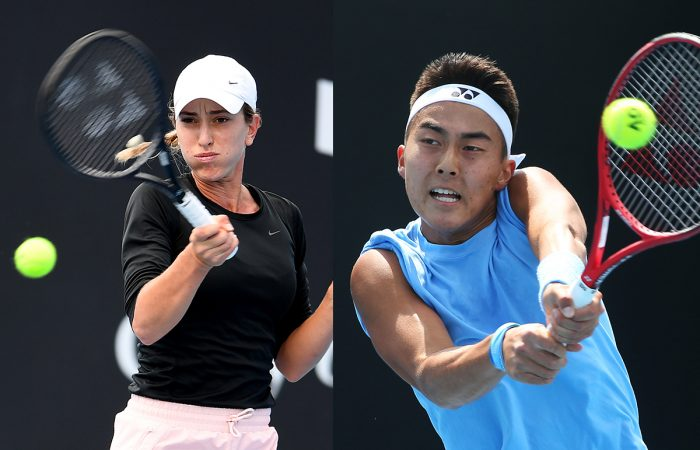 Alexandra Bozovic and Rinky Hijikata. Pictures: Getty Images