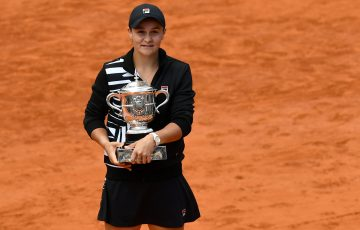 CHAMPION: Australia's Ash Barty with her French Open trophy in 2019. Picture: Getty Images