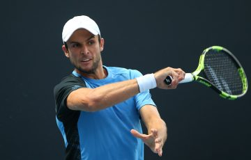 ON THE RISE: Aleksandar Vukic in action during Australian Open qualifying earlier this year. Picture: Getty Images