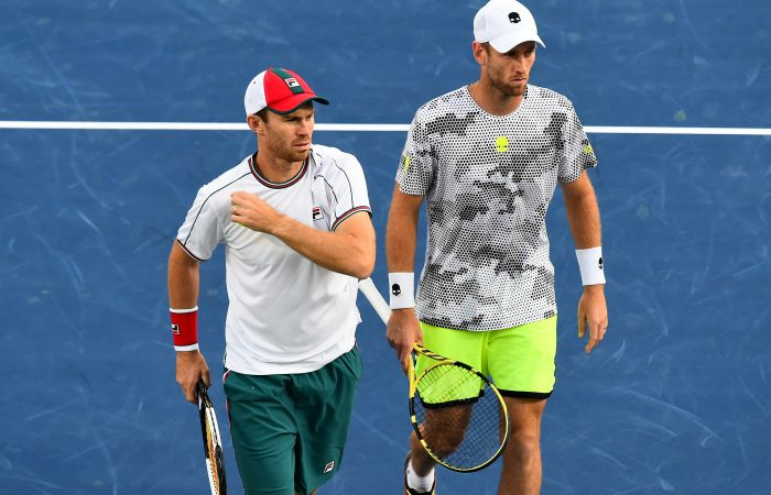 IN FORM: John Peers and New Zealand's Michael Venus in Dubai earlier this year. Picture: Getty Images