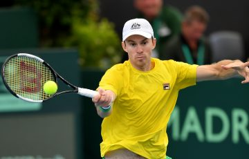 John Peers in action during a Davis Cup tie earlier this year. Picture: Getty Images