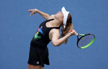 Ellen Perez at the 2020 US Open; Getty Images