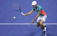 BIG EFFORT: Alex de Minaur gave it is all in a US Open quarterfinal against Dominic Thiem. Picture: Getty Images