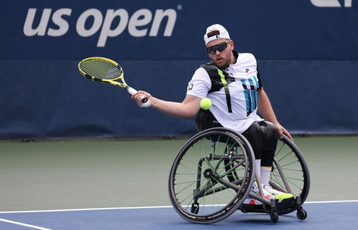 Dylan Alcott at the 2020 US Open; Getty Images