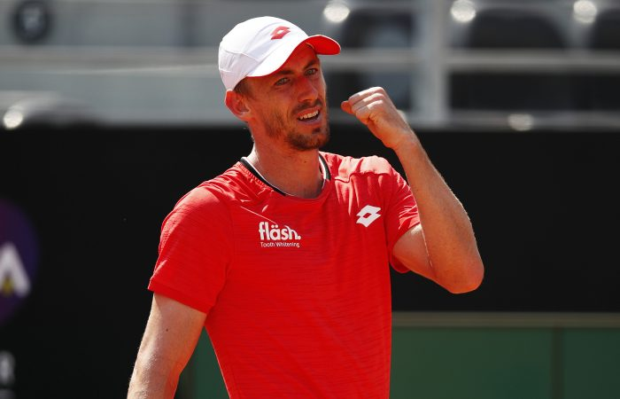 John Millman during his first-round  win in Rome. Picture: Getty Images