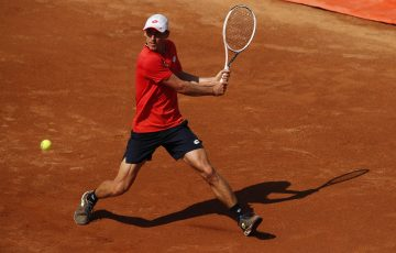 John Millman during his second round loss against Argentine Diego Schwartzman in Rome. Picture: Getty Images