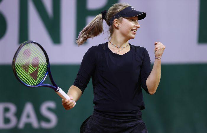 WINNER: Daria Gavrilova celebrates after upsetting Dayana Yastremska in Paris. Picture: Getty Images