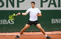 MAJOR DEBUT: Aleksandar Vukic in action during his first round match at Roland Garros. Picture: Getty Images