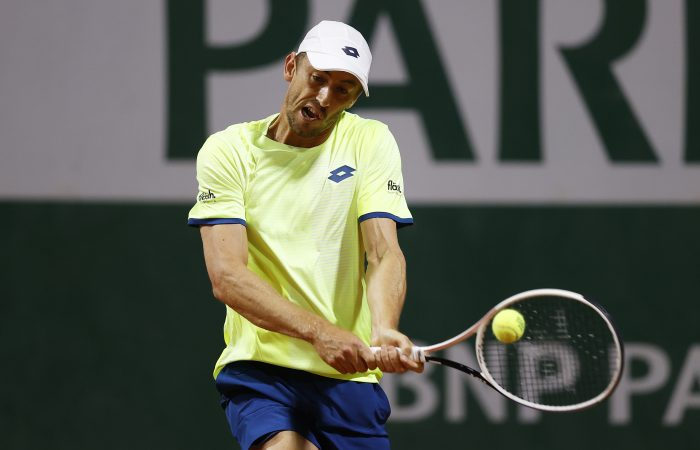 UNDER PRESSURE: John Millman in action at Roland Garros. Picture: Getty Images