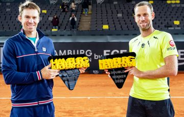 CHAMPIONS: John Peers and Michael Venus celebrate their Hamburg title win. Picture: Twitter
