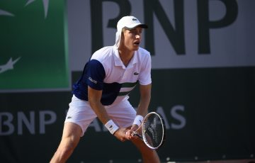 Australia's Marc Polmans at Roland Garros this week. Picture: Twitter