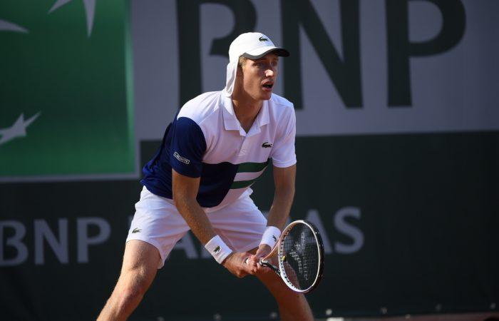 Australia's Marc Polmans at Roland Garros this week. Picture: Twitter