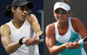 WINNERS: Astra Sharma and Arina Rodionova are into the second round of Roland Garros qualifying. Pictures: Getty Images