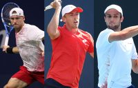 AUSSIES IN ACTION: James Duckworth, John Millman and Aleksandar Vukic play on day two at Roland Garros. Pictures: Getty Images