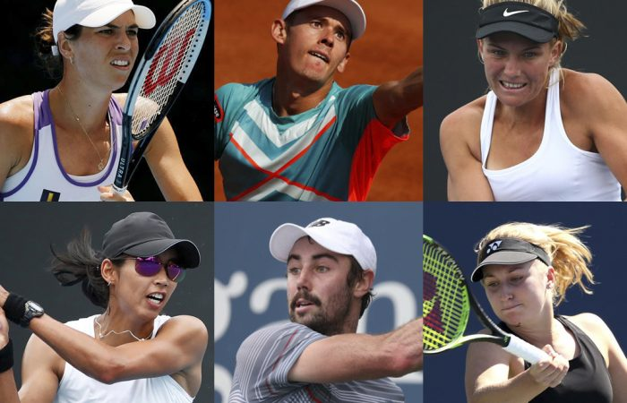 Aussies in action on day one at Roland Garros. Pictures: Getty Images