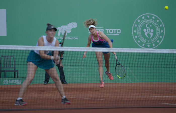 IN FORM: Storm Sanders and Ellen Perez are into the Istanbul doubles final. Picture: Twitter