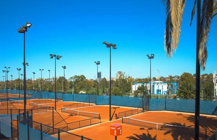 Clay courts at Melbourne Park.