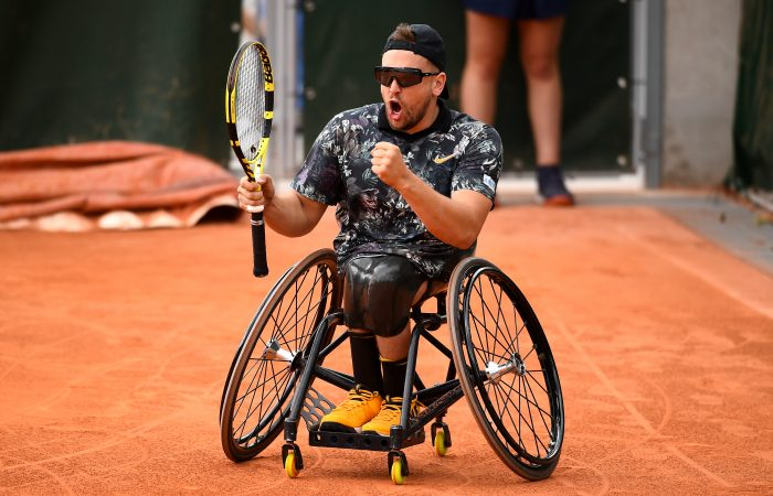 CHAMPION: Dylan Alcott is aiming to defend his Roland Garros title this week. Picture: Getty Images