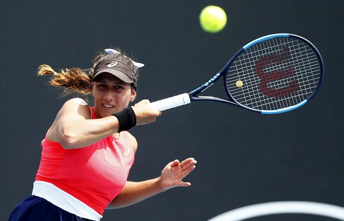 FOCUSED: Jaimee Fourlis competing at Australian Open 2020. Picture: Getty Images
