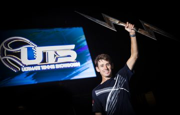 WINNER: Alex de Minaur celebrates his Ultimate Tennis Showdown victory in Belgium this week. Picture: Getty Images