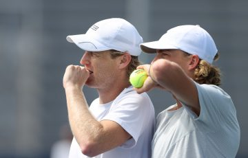 IN FORM: Luke Saville and Max Purcell are enjoying a great year in doubles. Picture: Getty Images