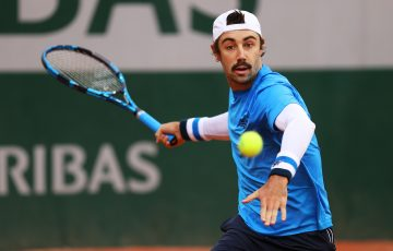 Jordan Thompson at Roland Garros earlier this month. Picture: Getty Images
