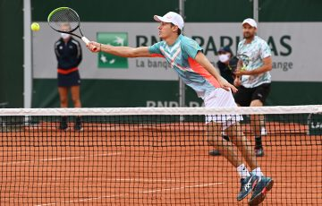 STRETCHED: Alex de Minaur and Matt Reid lost their second round doubles match at Roland Garros. Picture: Getty Images