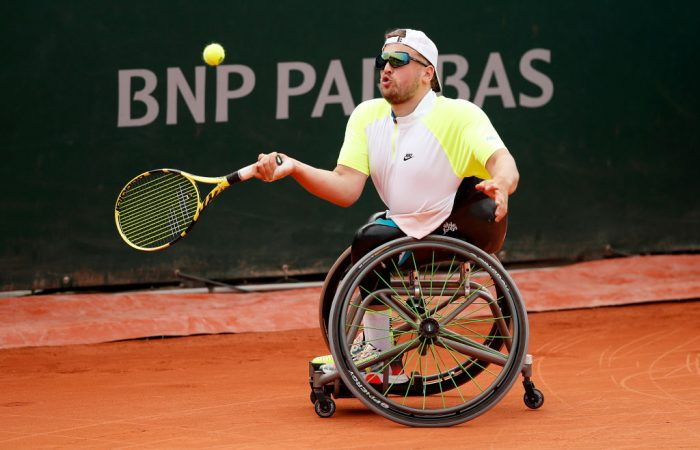 TOUGH LOSS: Dylan Alcott lost a tight battle in the quad wheelchair doubles final at Roland Garros. Picture: Getty Images
