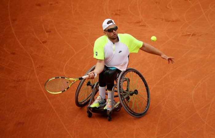 GOOD START: Dylan Alcott during his semifinal victory at Roland Garros. Picture: Getty Images