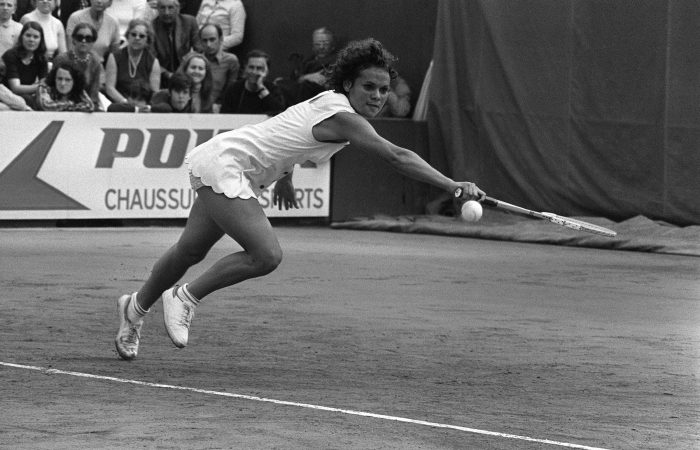 Australian Evonne Goolagong during her title-winning run at Roland Garros in 1971. Picture: Getty Images