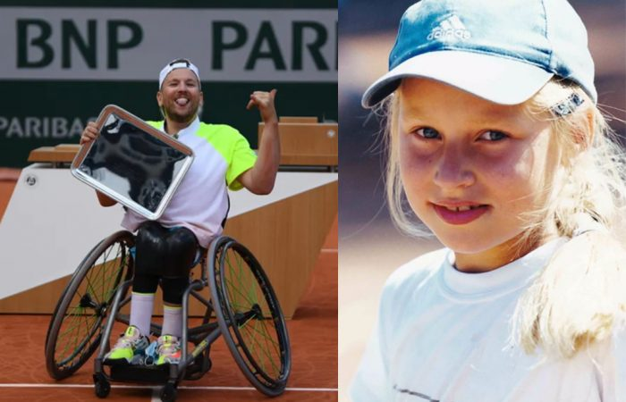 SOCIAL ROUND-UP: Dylan Alcott celebrates his Roland Garros win and a young Daria Gavrilova. Pictures: Twitter
