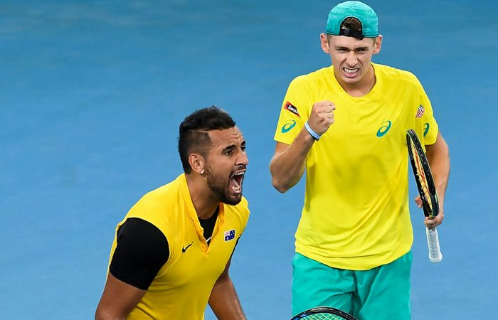 Nick Kyrgios and Alex de Minaur teamed up superbly at the ATP Cup in January. Picture: Getty Images
