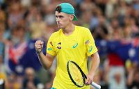 LEADING MAN: Australia's Alex de Minaur at the ATP Cup in January. Picture: Getty Images